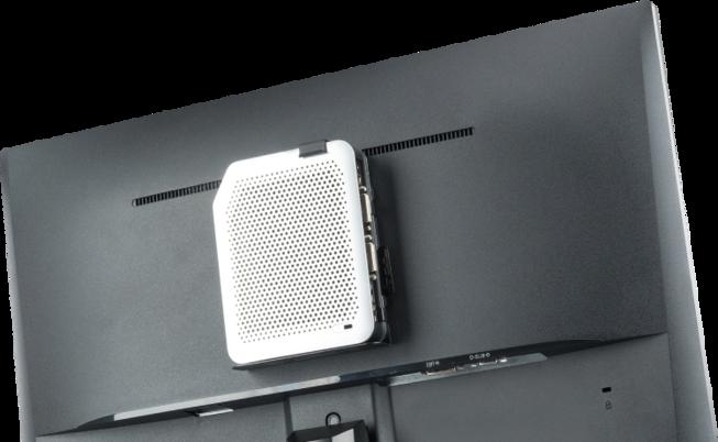 Возможность размещения устройства на VESA-креплении за монитором.